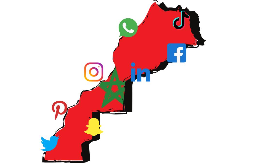 carte réseaux sociaux maroc 2021